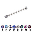 Long Barbell (Industrial Barbell) with Multi Gem Balls, 12 Ga