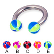 Titanium circular barbell with balloon balls, 10 ga