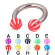 Beach ball titanium circular barbell, 10 ga