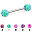 Web ball straight barbell, 14 ga