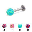 Labret with acrylic checkered ball, 12 ga