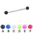 Long barbell (industrial barbell) with tornado balls, 12 ga