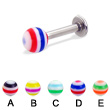 Labret with circle ball, 12 ga