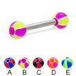 Straight barbell with balloon balls, 12 ga