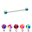 Long barbell (industrial barbell) with balloon balls, 14 ga