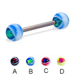Eye ball titanium straight barbell, 14 ga