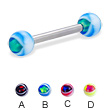 Eye ball straight barbell, 12 ga