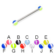 Long barbell (industrial barbell) with striped balls, 12 ga