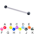 Long barbell (industrial barbell) with marble balls, 14 ga