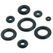 Pack Of 10 Black Rubber O-Rings