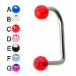 Acrylic jeweled ball lip hugger, 14 ga