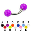 UV ball titanium curved barbell, 14 ga
