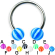 Beach ball titanium circular barbell, 14 ga