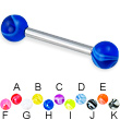 Marble ball straight barbell, 12 ga