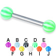 Beach ball straight barbell, 12 ga