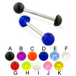 UV ball and half ball straight barbell, 14 ga