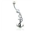 Belly Ring with Dangling Anchor