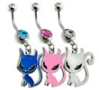 Surgical Steel Sassy Kitty Belly ring