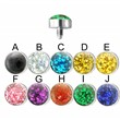 Surgical Steel Internally Threaded 4mm Glitter Dome Dermal Top