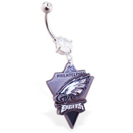 Belly Ring with official licensed NFL charm, Philadelphia Eagles