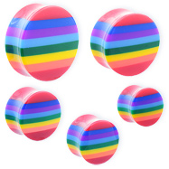 Pair Of Rainbow Saddle Plugs