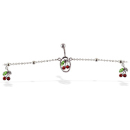Belly chain with dangling cherries