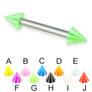 Beach cone straight barbell, 12 ga