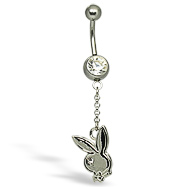 Playboy Belly Button Ring