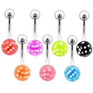 Dice Belly Ring